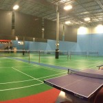 Panoramic Picture Of Our Courts And Table Tennis From The South West Corner
