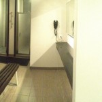 Panoramic Picture Of The Men's Changing Room And Shower Amenities