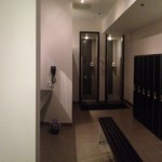 Panoramic Picture Of The Spa Inspired Women's Changing Room And Shower Amenities