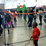Children Playing @ Our Mini Badminton Display!