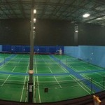 Panoramic Picture Of 12 Olympic Flooring Courts From The Mezz Cafe & Lounge