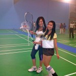 Playing Badminton & Costumes, What A Night!